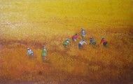 "Picture of painting ""worker in the ricefield"""