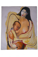 "Picture of painting ""mother with child"""