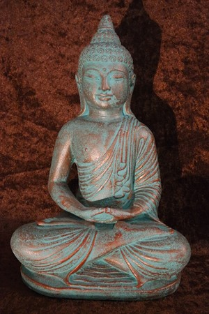 Picture of buddha made of lavasand