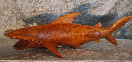 Picture of hammershark made of wood