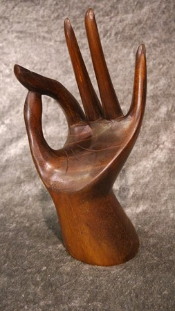 Picture of hand made of wood