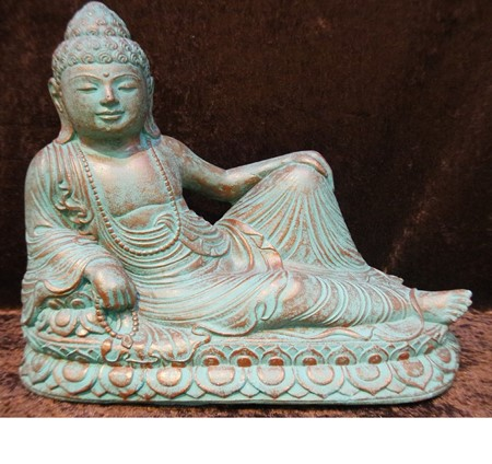Picture of buddha resting made of lavasand
